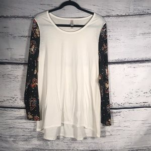 Lularoe 2XL NWOT Long Sleeve Shirt Sleeve design